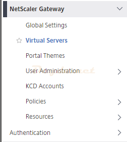 Citrix ADC Gateway NetScaler Gateway Virtual Servers