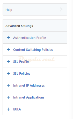 NetScaler Gateway Virtual Servers Basic Authentication Advanced Authentication SAML IDP Policy Authentication Profile