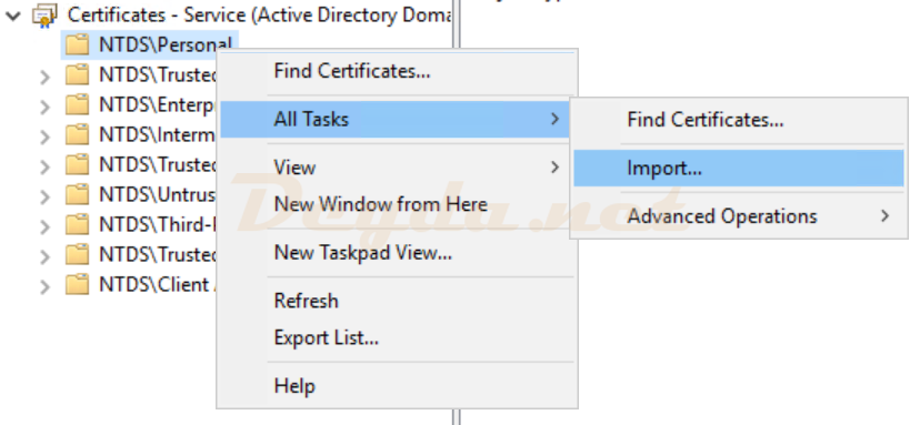 NTDS\Personal All Tasks Import