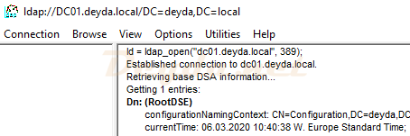 LDAP Connection ldap_open