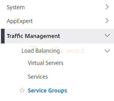 Traffice Management Load Balancing Service Groups