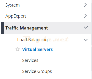 Traffic Management Virtual Servers