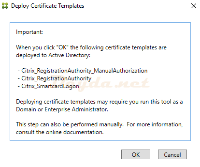 Deploy Certificate Templates<br>FAS